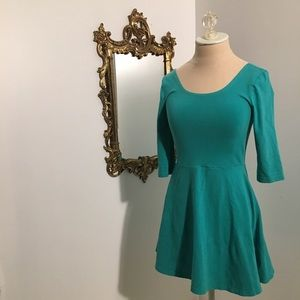 Express turquoise dress small